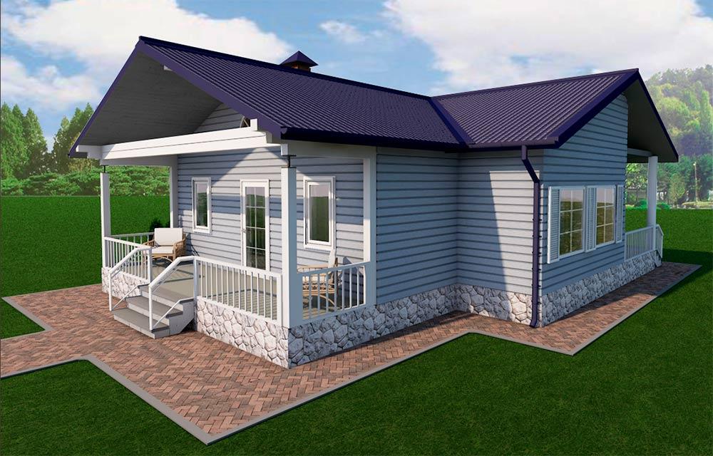 """Проект одноэтажного дома """"Блюз"""" (103 кв.м.)"""