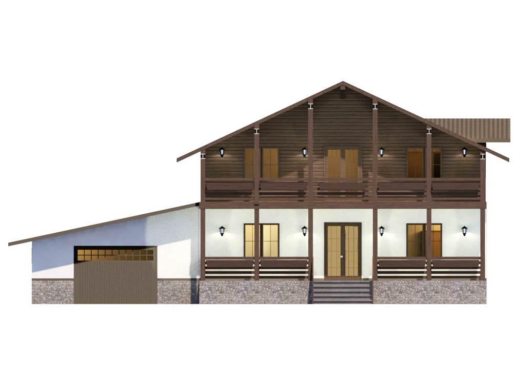 """Проект двухэтажного дома """"Адажио"""" (357 кв.м.)"""