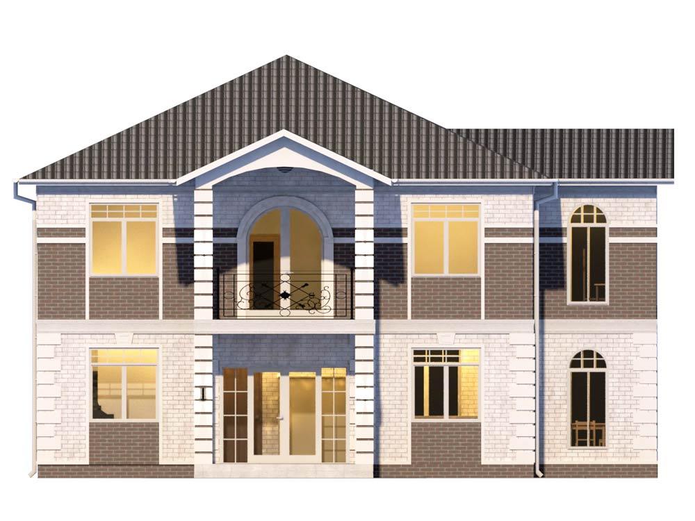 """Проект двухэтажного дома """"Анданте"""" (165 кв.м.)"""