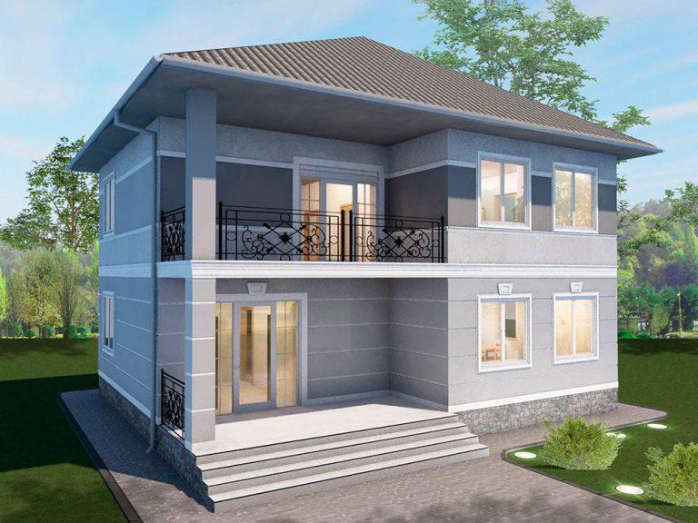 """Проект двухэтажного дома """"Соната"""" (147 кв.м.)"""