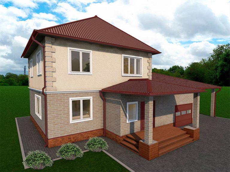 """Проект двухэтажного дома """"Римини"""" (217 кв.м.)"""