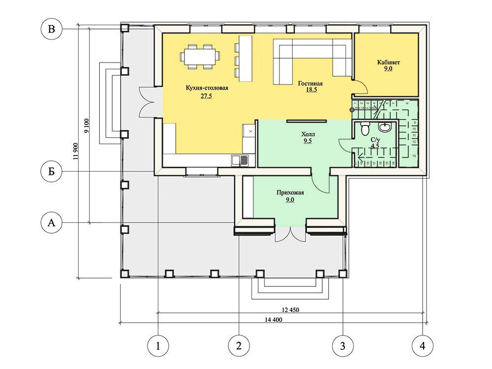 """Проект двухэтажного дома """"Рондо"""" (151,5 кв.м)"""