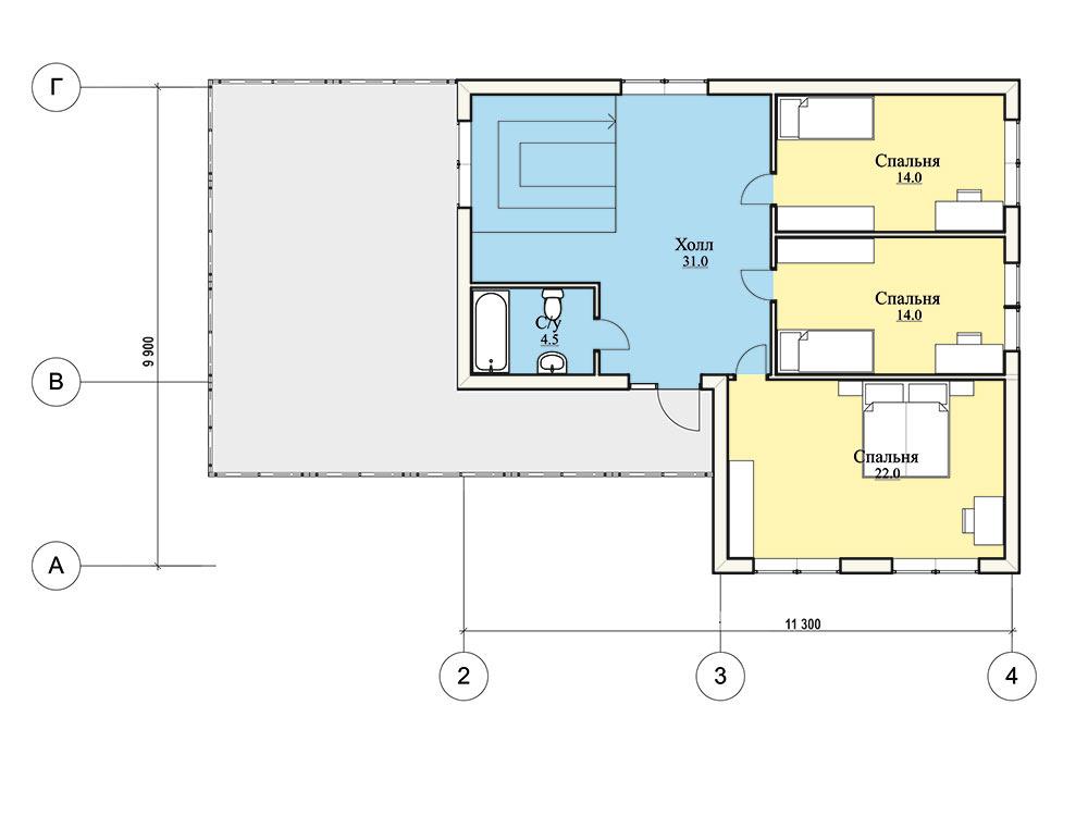 "Проект двухэтажного дома ""Авангард"" (158 кв.м.)"