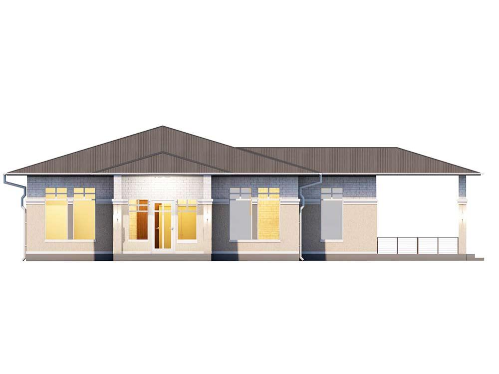 """Проект одноэтажного дома """"Прерий"""" (90 кв.м.)"""