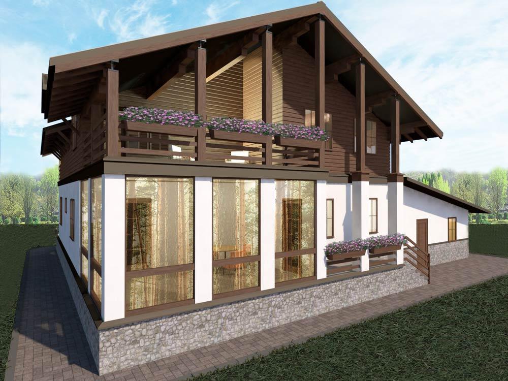 Проект двухэтажного шале Адажио