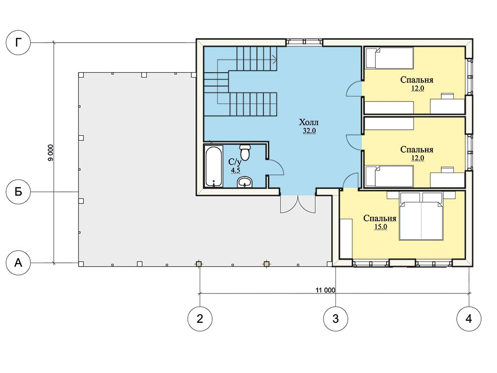 """Проект двухэтажного дома """"Шале"""" (146,5 кв.м.)"""