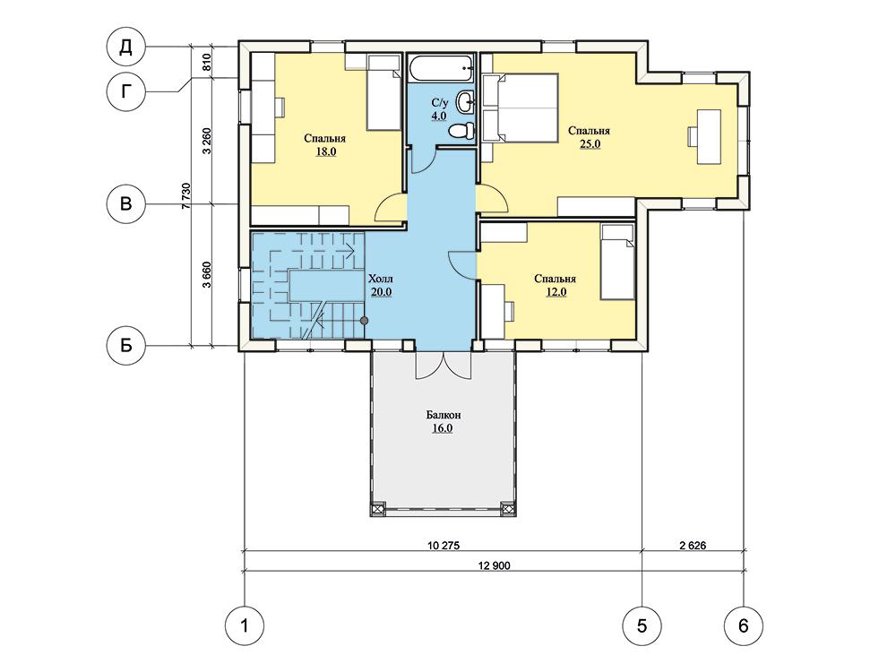 """Проект двухэтажного дома """"Династия"""" (165 кв.м.)"""